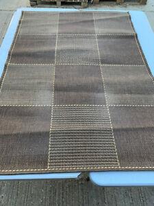 Brown & beige squares patterns large rug lot FE090320G