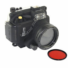 Underwater Dive Camera Housing Case for sony NEX-5R / 5T 16-50mm lens Red Filter
