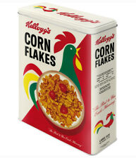 XLarge Retro Storage Tin Box KELLOGG'S CORN FLAKES 'Cornelius' Cereal Licensed