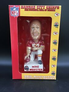 MIKE WEBSTER KANSAS CITY CHIEFS BOBBLEHEAD HALL of FAMERS BOBBLE DREAMS & BOX