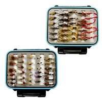 Fly Fishing Flies Ultimate Trout Fly Assortment 60 Flies and  Waterproof Fly Box