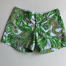 Lilly Pulitzer Ladies Green Floral Textured Callahan Shorts size 0