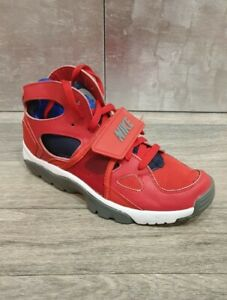 Nike Huarache Trainers Red Leather Size 5.5 Uk