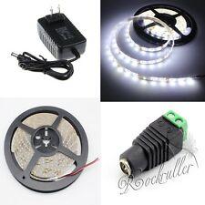 5M 3528 SMD Waterproof  Cool White 300 LEDs Flexible Strip Light+DC+2A Power