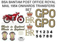 BSA Bantam General Post Office Royal Mail Full Transfer Decal Set Motorcycle