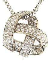 """Diamond Heart Pending  .95 tcw 14kw Gold with 16"""" inch Long Chain"""