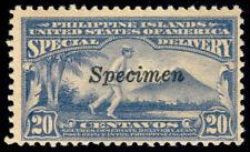 MOMEN: US PHILIPPINES STAMPS #E5SR 1919 MINT OG H SPECIMEN