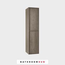 Slant Left Hand Bathroom Tall Unit Nebraska Oak - Genuine | RRP: £625