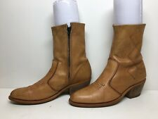 WOMENS WOILD COUNTRY COWBOY SHORT BROWN  BOOTS SIZE 8.5 W