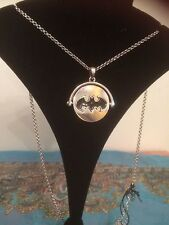 Batman vs Superman Spinner Necklace crystal back 18 inches