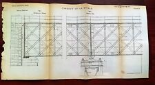 1873 Viaduct of La Bouble Engineering Diagram Orleans Railroad France