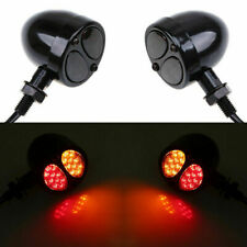 Smoke LED Turn Signal Light Running Brake Indicator Lamps For Bobber Cafe Racer