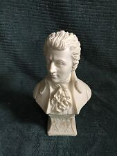 """Beautiful 10"""" Alabaster statue W.A. Mozart Sculpture Bust By Faro Made In Italy"""