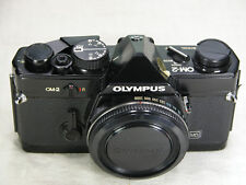 Black OLYMPUS OM-2 MD body Professionaly Tested Meter and Exposure Perfect zuiko