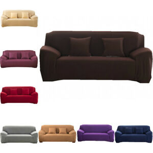 1 2 3 4 Seater Stretch Elastic Sofa Covers Slipcover Couch Cover Chair Protector