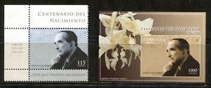 COSTA RICA 2006, PRESIDENT JOSE FIGUERES FERRER, ORCHID, Scott 594,595. MNH