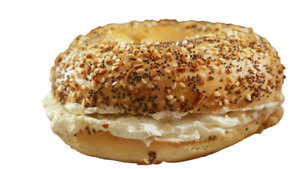 Display Faux Food Prop Everything Bagel With Cream Cheese New