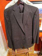 Hickey Freeman Brown Loro Piana Super 130's Two Button Suit, Madison, 40 Regular