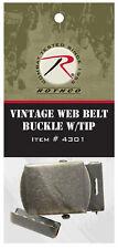 Brass Belt Buckle For Web Belts Military BDU Belt Vintage Style Rothco 4301