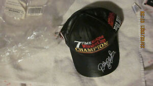NEW DALE EARNHARDT SR 2001 SEVEN TIME NASCAR WINSTON CUP CHAMPION LEATHER HAT
