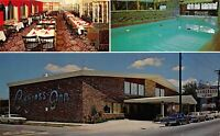 New Albany Indiana 1960s Postcard Congress Inn Motel Swimming Pool