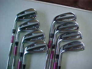 LEFT TITLEIST T100 FORGED 4-PW +50* IRONS 4 5 6 7 8 9 PW 50 AMT S300 STIFF STEEL