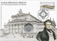 D-299 DDR-Numisbrief Schauspielhaus Berlin