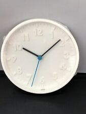 2 x IKEA STOMMA Wall clock white 20 cm Easy Fitting Sturdy Wall Clock Pack of 2