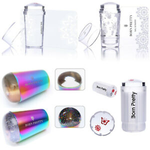 BORN PRETTY Stamping Stamper Transparent Holographic Handle for UV Gel Nail Tool