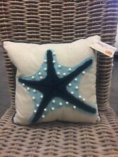 "Cracker Barrel Coastal Mermaid 12"" Accent Decor Pillow Brand New With Tags"
