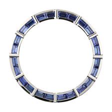 Rolex Daytona Corte Baguette Azul Zafiro Piedras Preciosas Bisel Personalizado