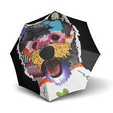 "Doppler Modern Art Automatic Walking Umbrella - ""Patchdog"" Patchwork Dog Print"