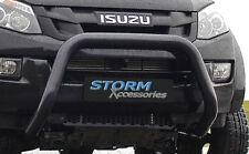 Isuzu D-Max 2012-2018 avant noir Bar, Bull Bar, bousculer un bar-UE approuvé 76 mm