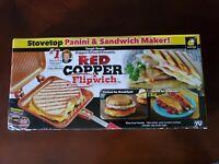 BRAND NEW Red Copper FlipWich Sandwich Maker