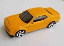 1:64 Dodge Challenger SRT Demon Yellow Color Die Cast Metal Car Model RMZ City