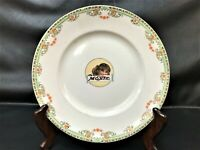 Rare, antique KT&K MOXIE advertising lunch plate features Moxie Soda Girl