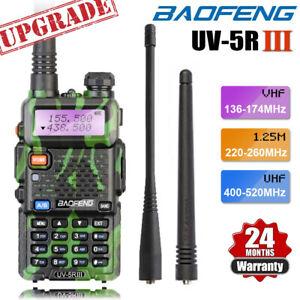 BAOFENG UV-5R III Tri-Band UHF/VHF Walkie Talkie Long Range 5W Two Way Ham Radio