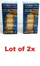 LOT OF Tumbling Tower Game Wooden Mini Wood Blocks 2-4 Players Travel Size