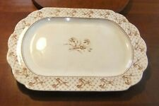 XL Serving Platter by Brownfield & Sons HARVARD Brown Transfer Pattern w Early