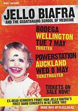 JELLO BIAFRA 2013 NEW ZEALAND CONCERT TOUR POSTER-Dead Kennedy's-Punk Rock Music
