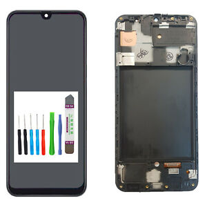 Samsung Galaxy A50 SM-A505F Display LCD TouchScreen Bildschirm Black + Rahmen