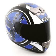 Box BX-1 Full Face Motorcycle Helmet - Scope Blue