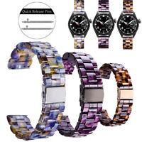 For Apple iWatch 38 40 42 44mm Bracelets Leopard Tortoise Resin Watch Strap Band