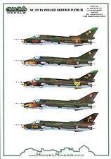 """Model Maker Decals 1/72 SUKHOI Su-22 """"FITTER"""" Polish Air Force Fighter Part 2"""