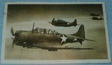 WWII Era US NAVY Photograph POSTCARD, Douglas Dauntless Dive Bombers, 1943