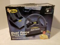 1998 MAD CATZ DUAL FORCE RACING WHEEL AND PEDDLES  FOR PLAYSTATION PS1
