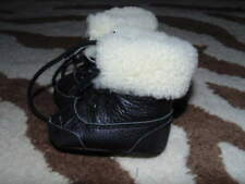 POLO RALPH LAUREN SZ 0 BLACK FAUX FUR BOOTS