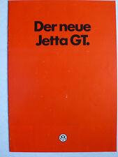 Prospectus Volkswagen Jetta 2 GT, 8.1984, 4 pages