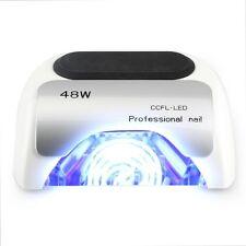 48w LED Lampada UV Professional Nail Smalto Gel Gelish Shellac IBD ecc. BIANCO