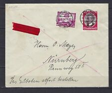 1934 Germany Scott B57 & 434 on special delivery cover Stettin to Nurnberg
